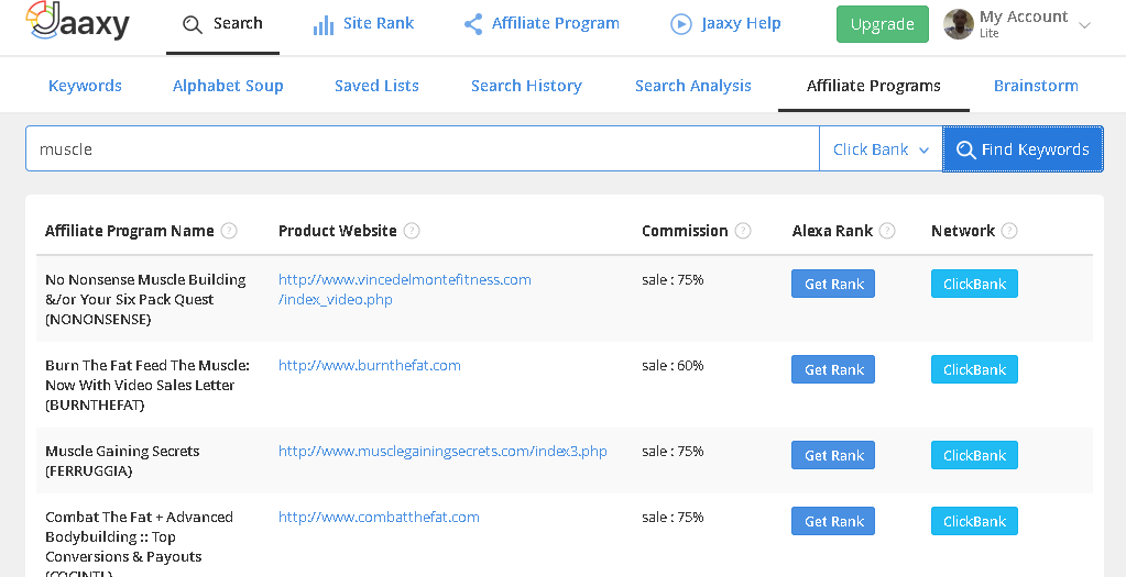 Jaaxy Affiliate Program Tab What A Difference On Jaaxy?