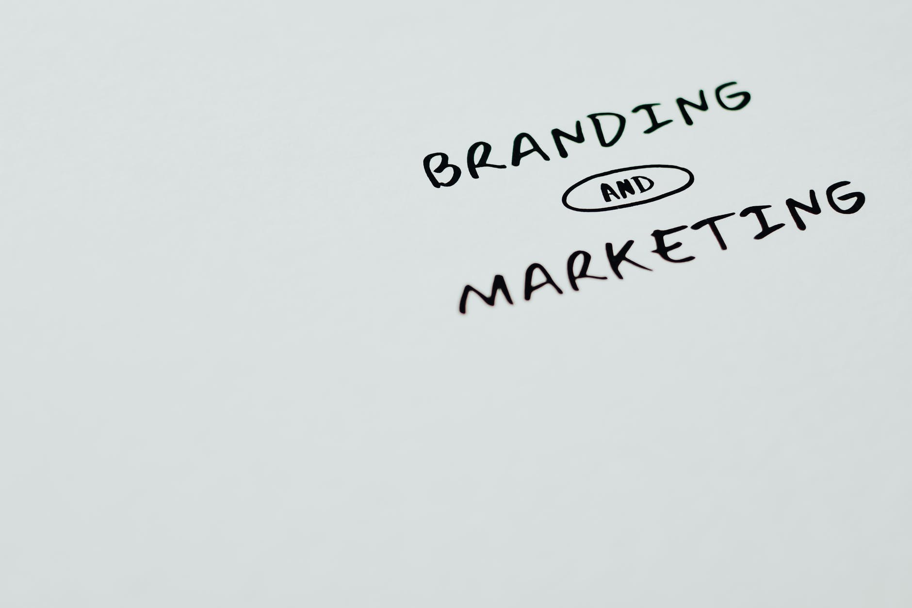Branding And Marketing Text On A White Surface
