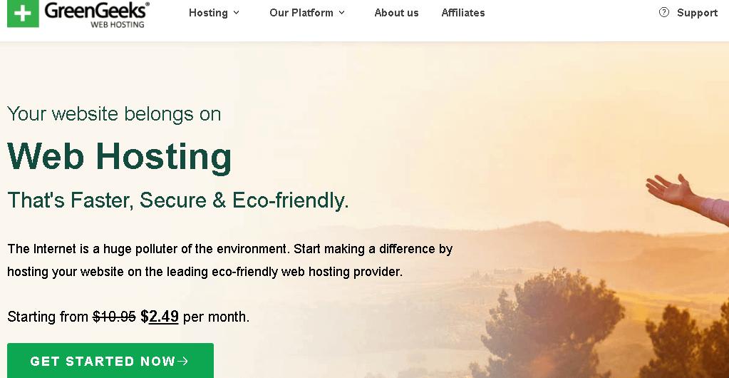 Greengeeks Best Web Hosting