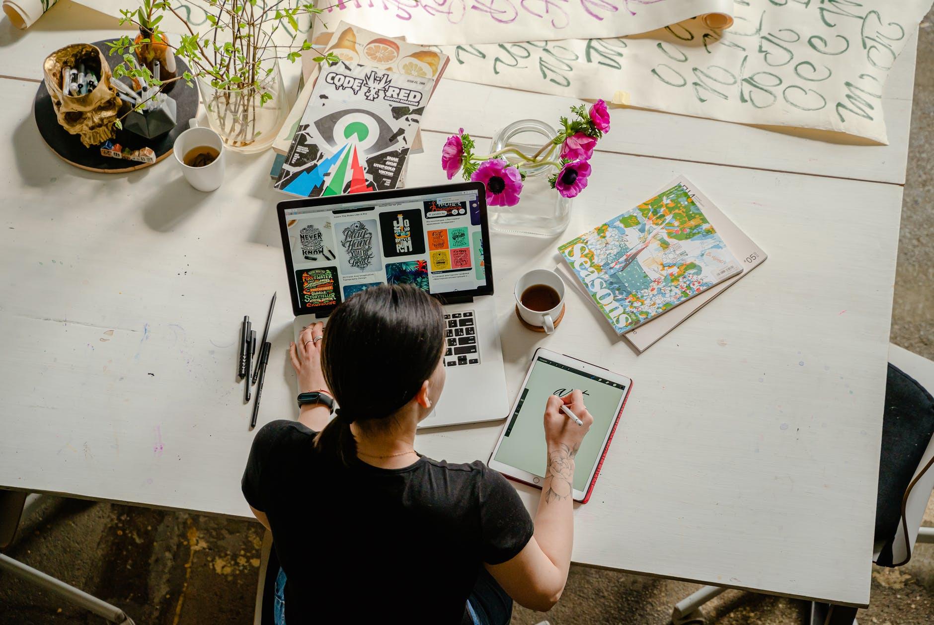 Woman Writing Niche Blog