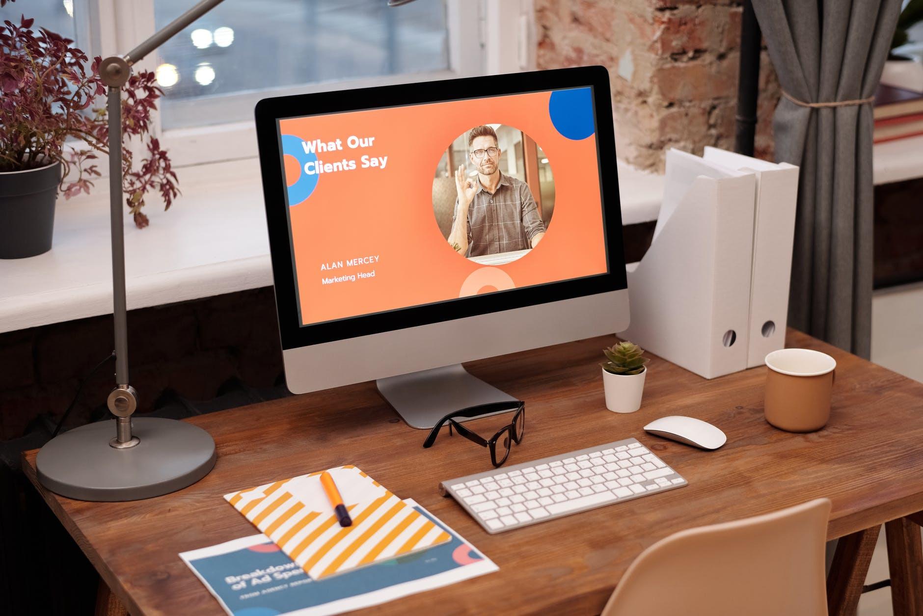 Membership Website Simple Workspace At Home