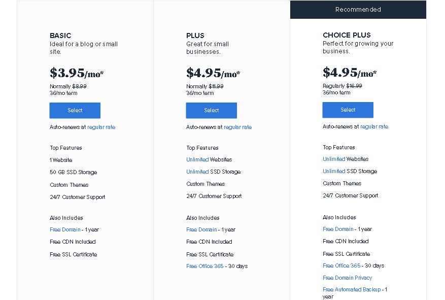 Bluehost Review Wordpress Price