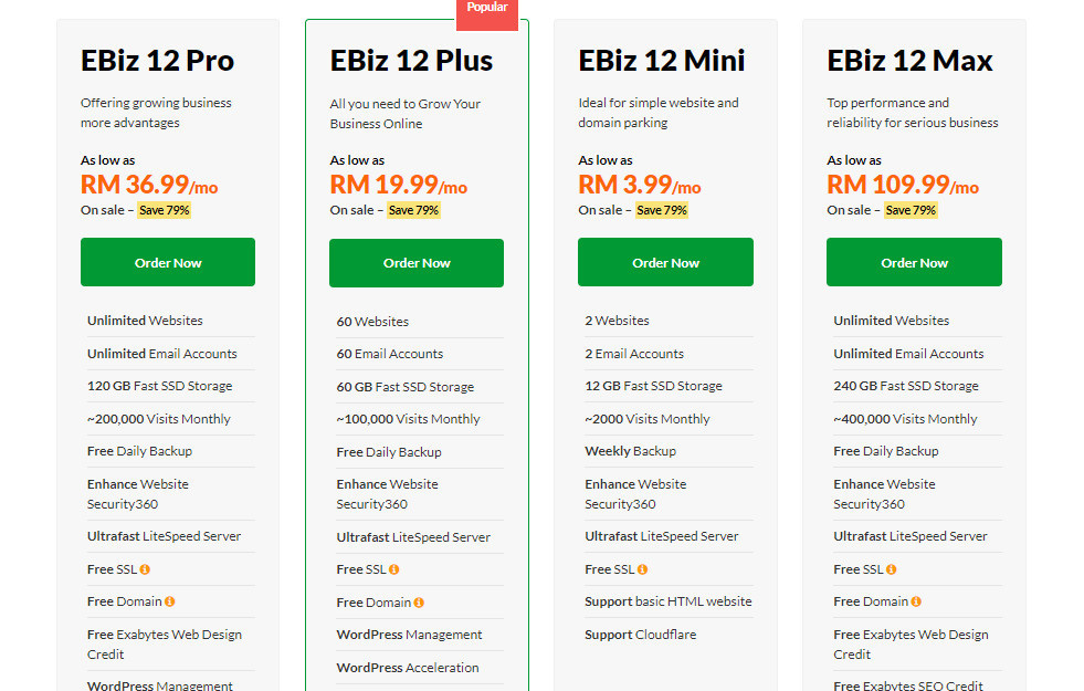 Exabytes Review Pricing